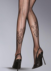 Pretty Polly Sumptuous Fashion Backseam Net Tights Zoom 2