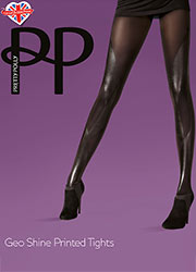 Pretty Polly Fashion Geo Shine Printed Tights Zoom 1