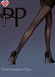 Pretty Polly Fashion Printed Backseam Tights