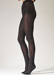 Pretty Polly Fashion Vertical Pattern Tights Zoom 2