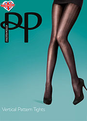 Pretty Polly Fashion Vertical Pattern Tights Zoom 1