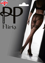 Pretty Polly Flirty Backseam Tights With Body Detail