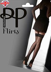 Pretty Polly Flirty Velvet Lace Backseamed Hold Ups