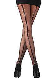 Pretty Polly Heart Backseam Tights Zoom 2