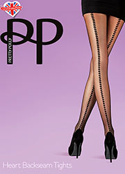Pretty Polly Heart Backseam Tights Zoom 1