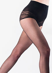 Pretty Polly In Shape Patterned Brief Medium Shaper Tights Zoom 2