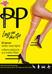 Pretty Polly Legs On The Go 10 Denier Ladder Resist Tights