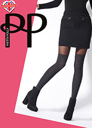 Pretty Polly Marl Cable Over The Knee Sock Tights
