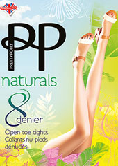 Pretty Polly Naturals Open Toe Tights
