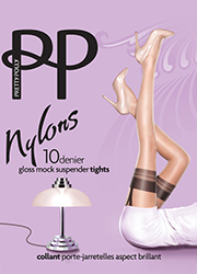 Pretty Polly Nylons Gloss Mock Suspender Tights Thumbnail
