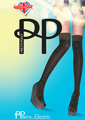 Pretty Polly Pretty Electric Lurex Over The Knee Socks Thumbnail