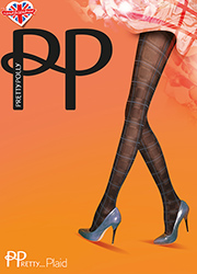 Pretty Polly Pretty Plaid Tartan Highlight Tights Zoom 2