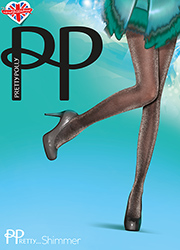 Pretty Polly Pretty Shimmer Sheer Lurex Tights Zoom 1