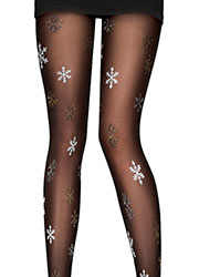 Pretty Polly Pretty Snowflakes Tights Zoom 2