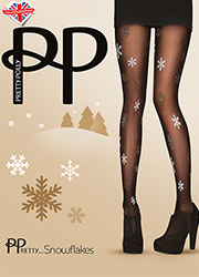 Pretty Polly Pretty Snowflakes Tights Zoom 1