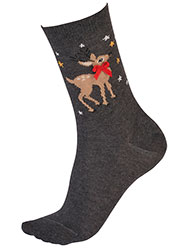 Pretty Polly Reindeer Socks