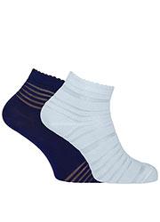 Pretty Polly Sheer Stripe Ankle Socks 2PP Zoom 1