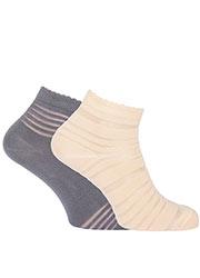 Pretty Polly Sheer Stripe Ankle Socks 2PP Zoom 2