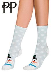 Pretty Polly Snowman Cotton Ankle Socks Thumbnail