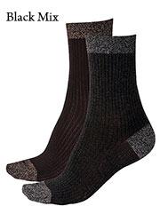 Pretty Polly Sparkle Rib Socks 2 Pair Pack Zoom 2