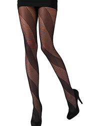 Pretty Polly Spiral Stripe Tights Zoom 2