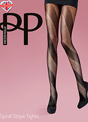 Pretty Polly Spiral Stripe Tights Zoom 1