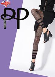 Pretty Polly Stripe Net Footless Tights