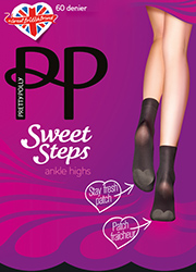 Pretty Polly Sweet Steps Odour Control Ankle Highs