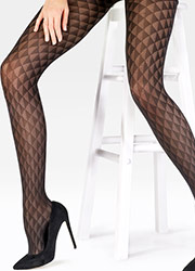 Pretty Polly Triangle Pattern Tights Zoom 2