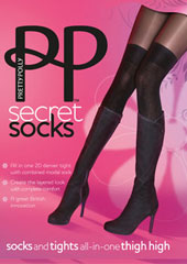Pretty Polly Secret Over The Knee Socks Tights Zoom 1