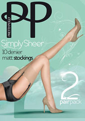 Pretty Polly Simply Sheer Stockings (2 Pair Pack)