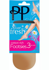 Pretty Polly Silver Fresh Footsie (2 Pair Pack)