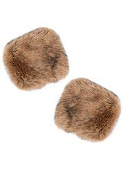 Pia Rossini Monroe Fur Cuffs Zoom 2