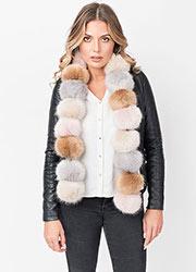 Pia Rossini Poppy Scarf Faux Fur Pastel