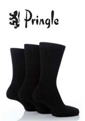 Pringle Mens Cotton Rich Black Socks 8 Pair Pack