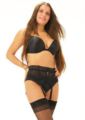 Sassy 4 Strap Deep Lace Suspender Belt Zoom 2