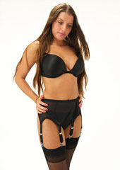 Sassy 6 Straps Powernet Suspender Belt Thumbnail
