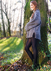 Sarah Borghi Green 80 Opaque Tights