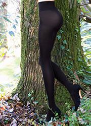 Sarah Borghi Green 80 Opaque Tights Zoom 2