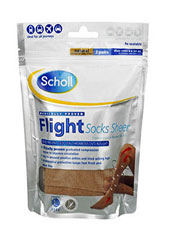 Scholl Semi-Sheer Soft Flight Socks (2PP) Natural