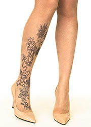 Stop And Stare Floral Henna Tights