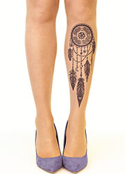 Stop And Stare Black Dream Catcher Tights Zoom 1