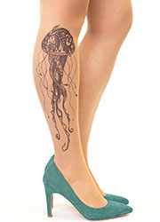 Stop And Stare Black Jellyfish Tights Zoom 1