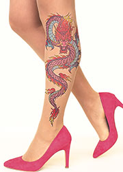 Stop And Stare Fire Dragon Tights