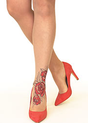 Stop And Stare Lace Roses Tights