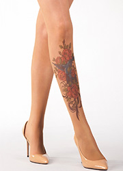 Stop And Stare Bird And Roses Tights Zoom 2
