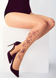 Stop And Stare Orchid Vine Tights