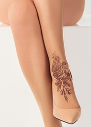 Stop And Stare Shaded Rose Tights Zoom 2