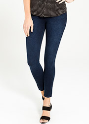 Spanx Cropped Indigo Leggings Zoom 1