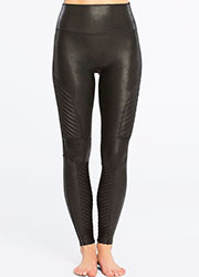 Spanx Faux Leather Moto Leggings Zoom 2